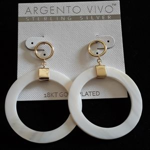 ARGENTO VIVO 18K Plated Gold Hoops 2.25 in Drop